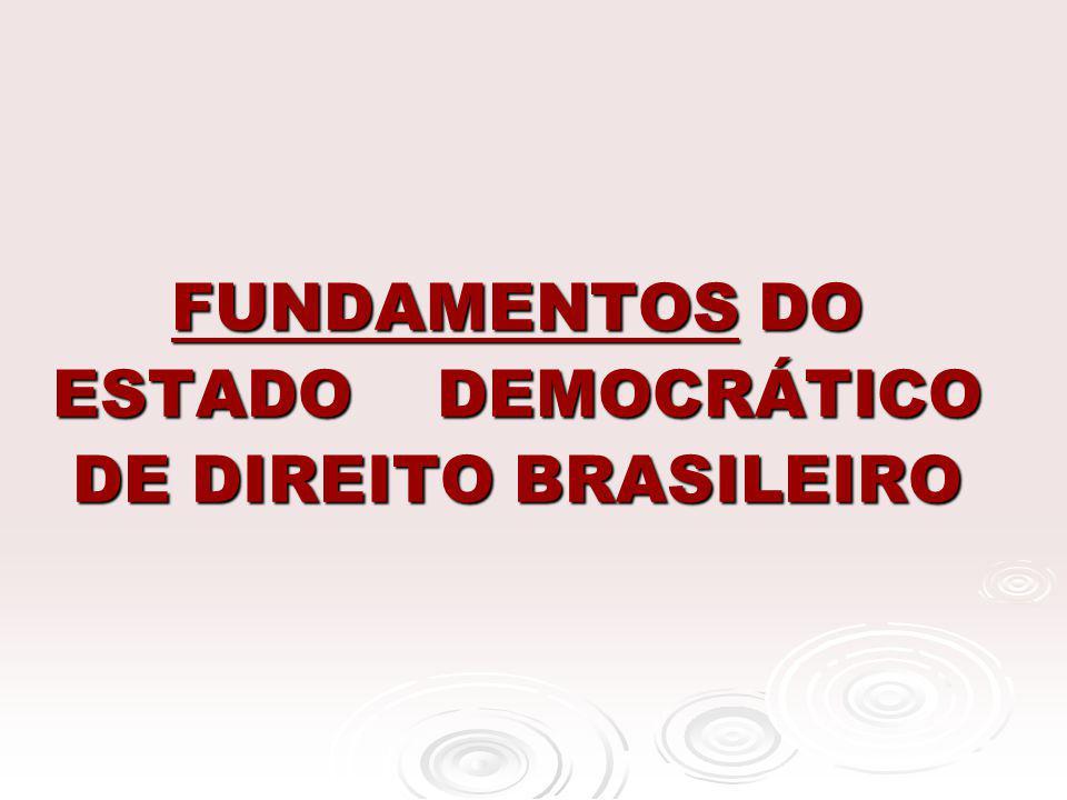 FUNDAMENTOS DO ESTADO DEMOCRÁTICO DE DIREITO BRASILEIRO FUNDAMENTOS DO ESTADO DEMOCRÁTICO DE DIREITO BRASILEIRO