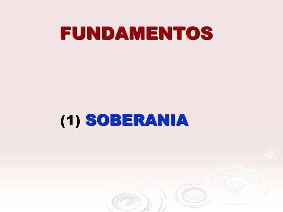 FUNDAMENTOS (1) SOBERANIA (1) SOBERANIA