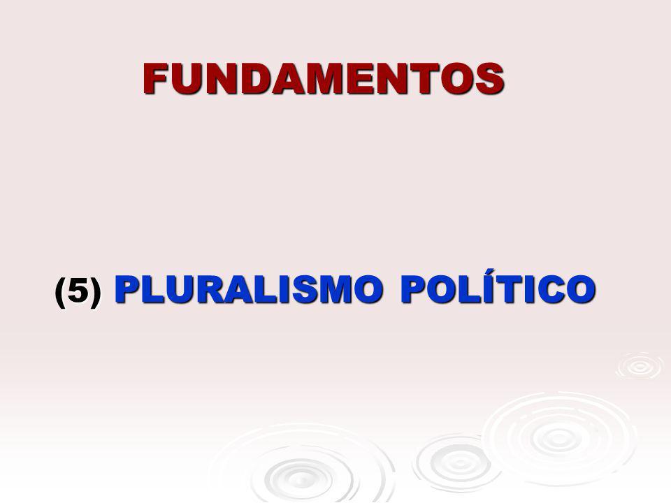 FUNDAMENTOS (5) PLURALISMO POLÍTICO