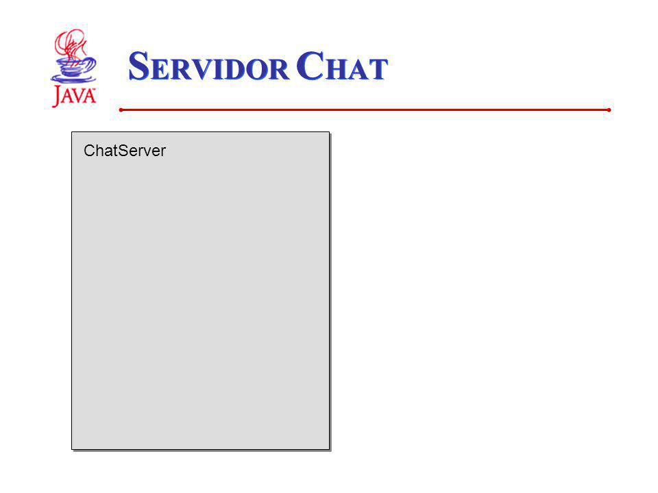 S ERVIDOR C HAT ChatServer
