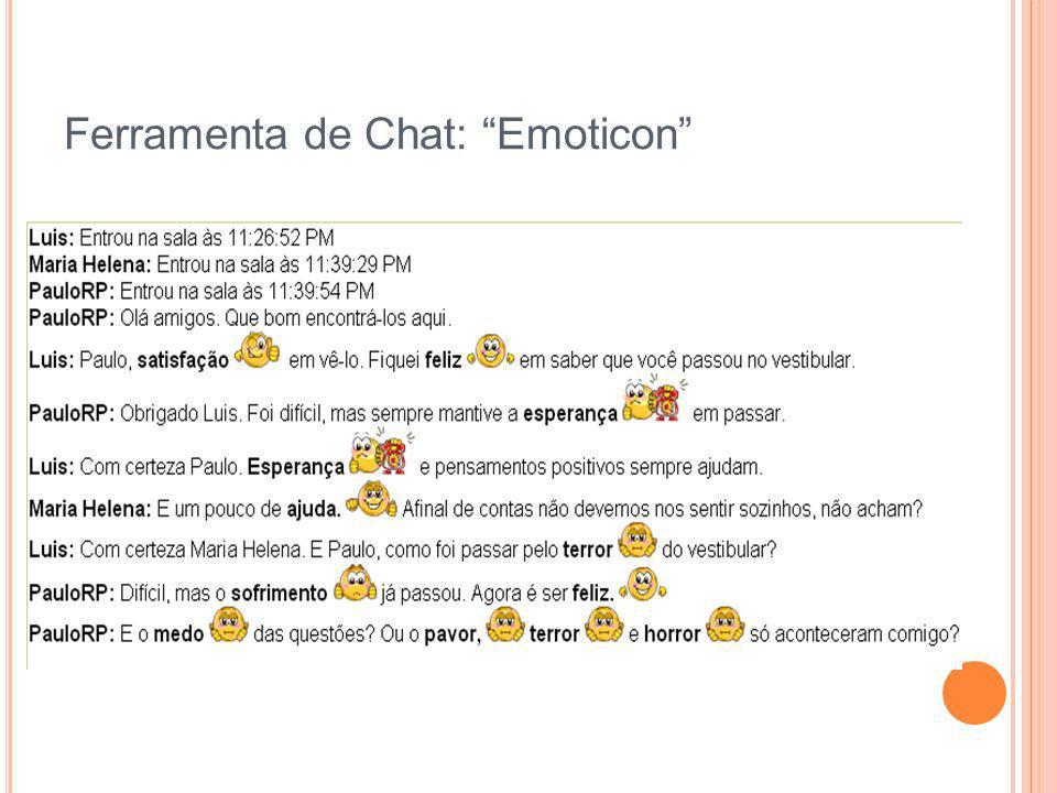 Ferramenta de Chat: Emoticon