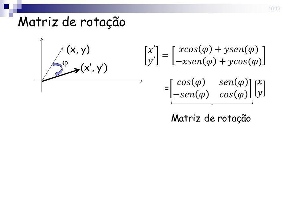 25 Nov 2008. 16:13 Matriz de rotação (x, y) Matriz de rotação