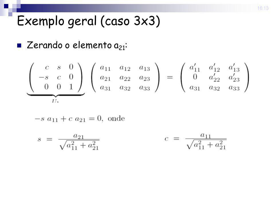 25 Nov 2008. 16:13 Exemplo geral (caso 3x3) Zerando o elemento a 21 :