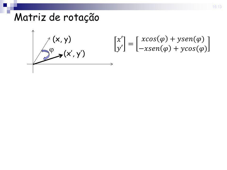 25 Nov 2008. 16:13 Matriz de rotação (x, y)
