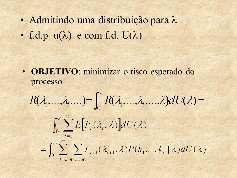 Admitindo uma distribuição para f.d.p u( ) e com f.d.