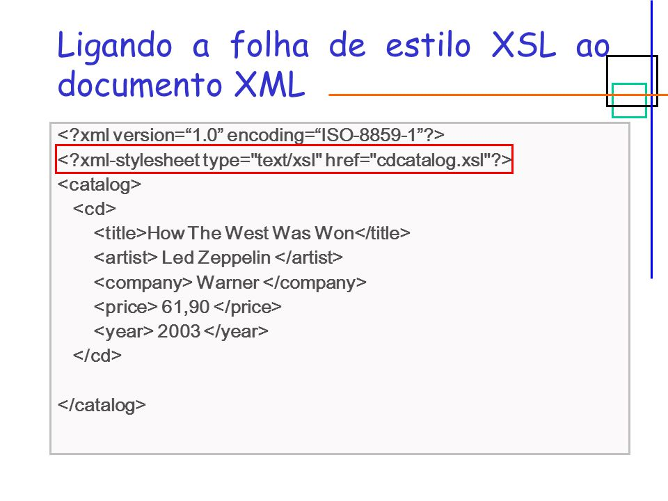 Ligando a folha de estilo XSL ao documento XML How The West Was Won Led Zeppelin Warner 61,90 2003