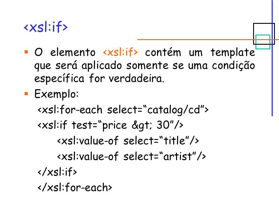 O elemento contém um template que será aplicado somente se uma condição específica for verdadeira.
