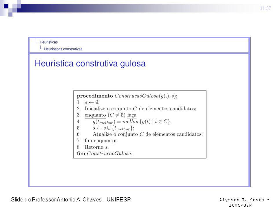 Alysson M.Costa – ICMC/USP Convex hull insertion procedure Stewart, 1977 1.