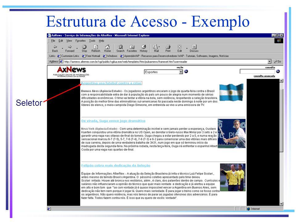 Estrutura de Acesso - Exemplo Seletor