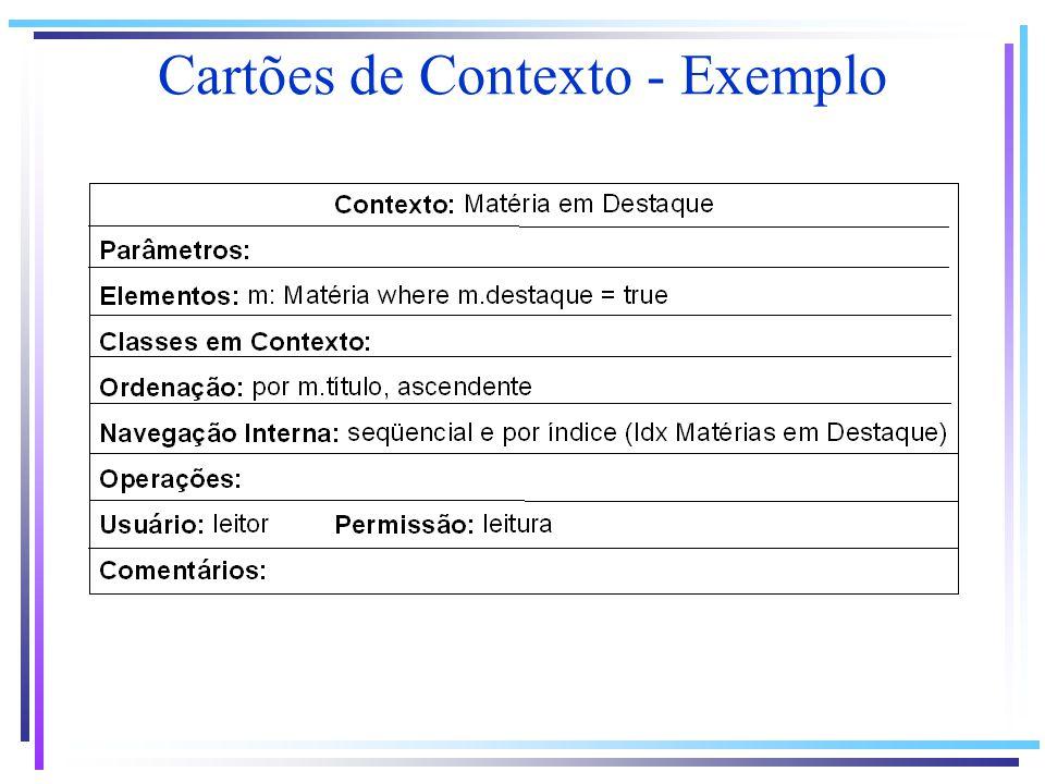 Cartões de Contexto - Exemplo