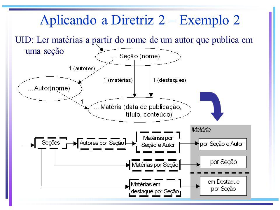 Aplicando a Diretriz 2 – Exemplo 2 UID: Ler matérias a partir do nome de um autor que publica em uma seção
