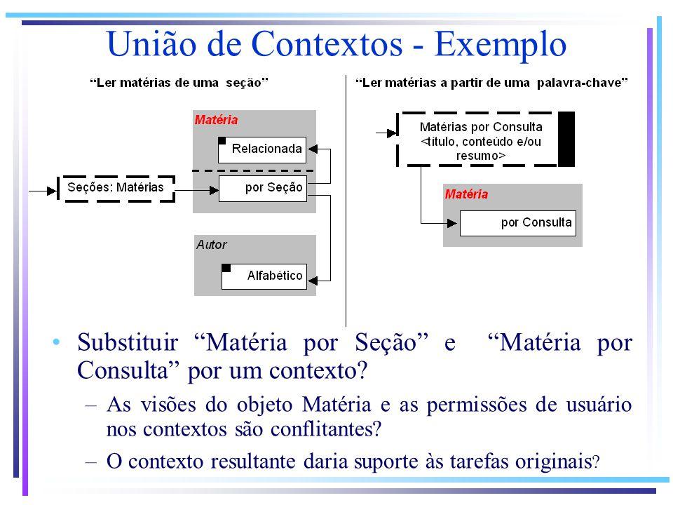 Substituir Matéria por Seção e Matéria por Consulta por um contexto.