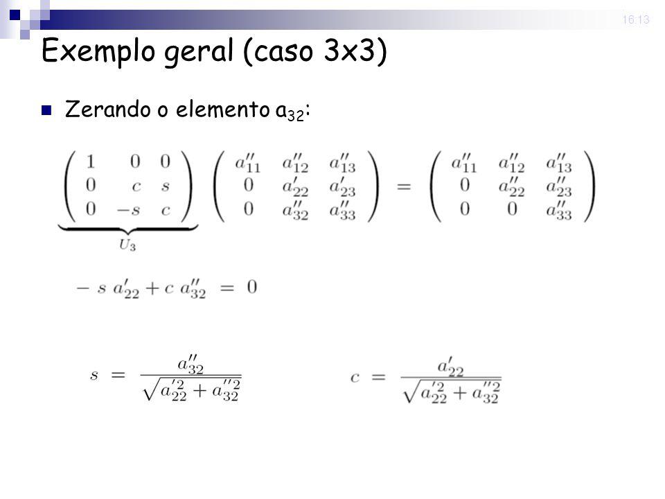 25 Nov 2008. 16:13 Exemplo geral (caso 3x3) Zerando o elemento a 32 :