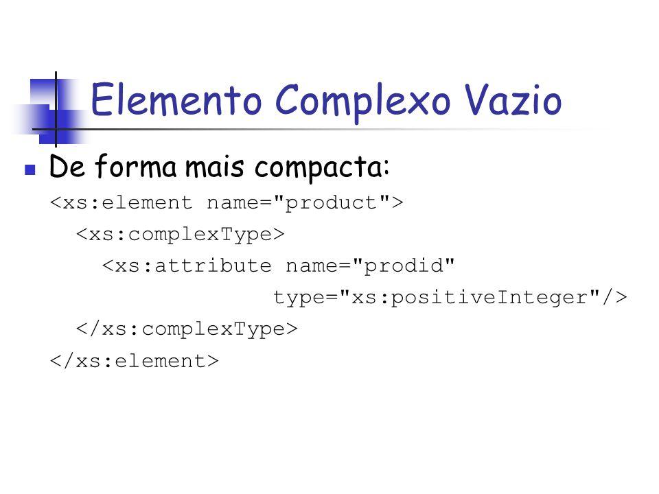 De forma mais compacta: <xs:attribute name=