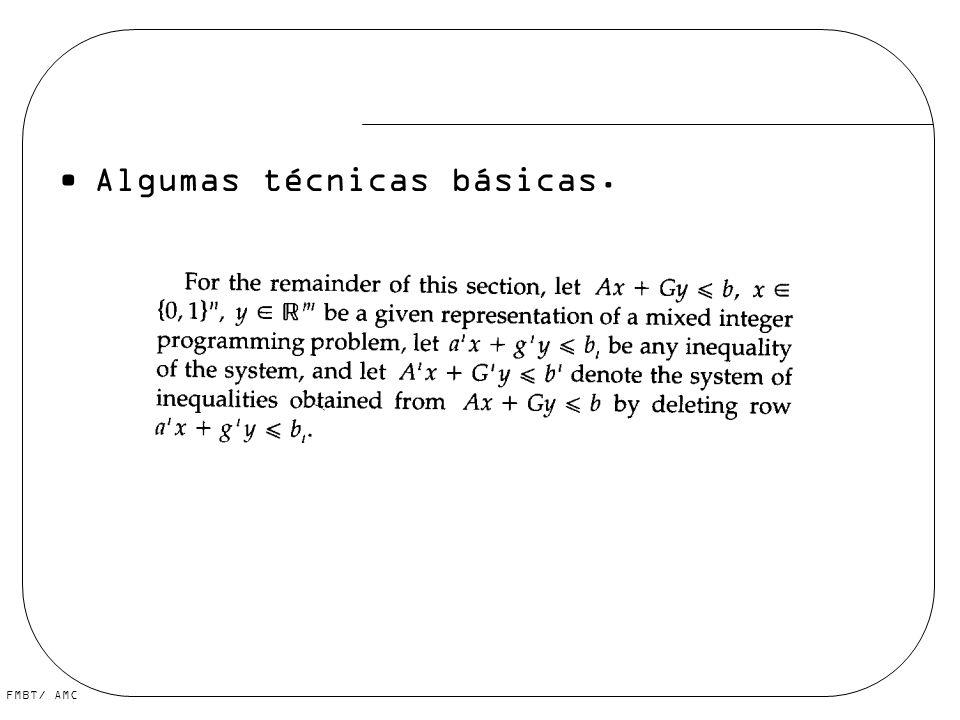 Algumas técnicas básicas.