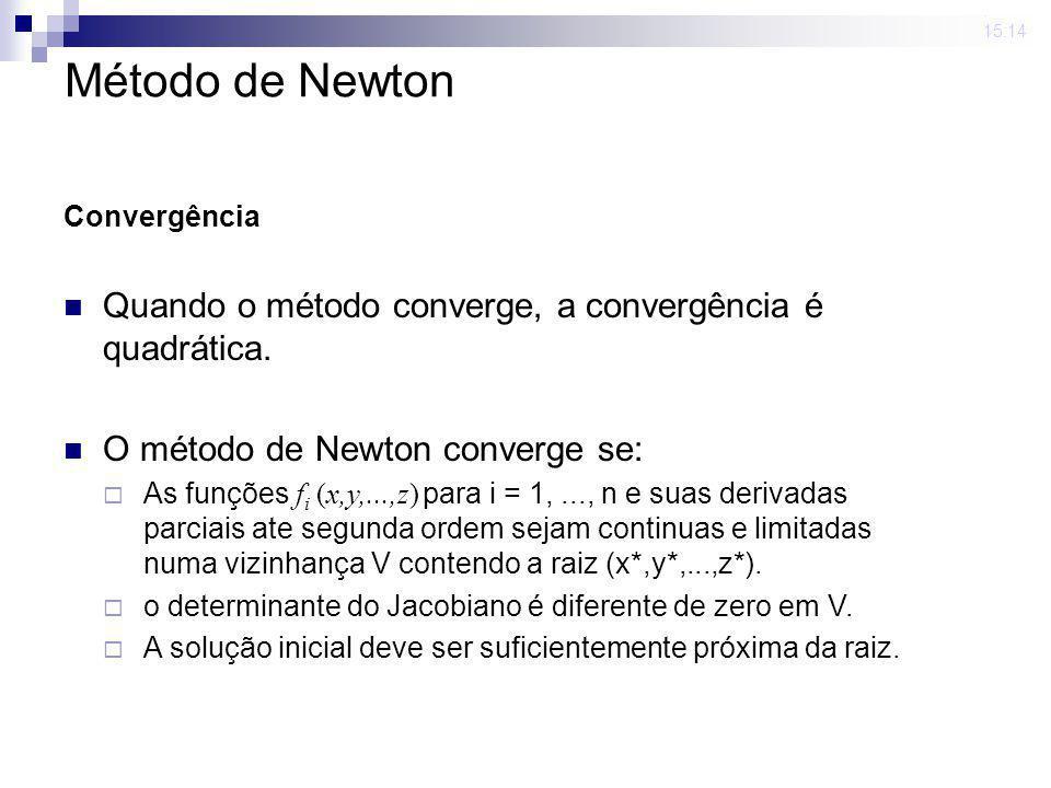 23 mar 2009. 15:14 Método de Newton - Algoritmo resolva o sistema linear determine a nova solução