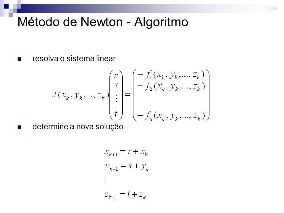 23 mar 2009. 15:14 Método de Newton - Algoritmo calcule o erro_atual norma infinito