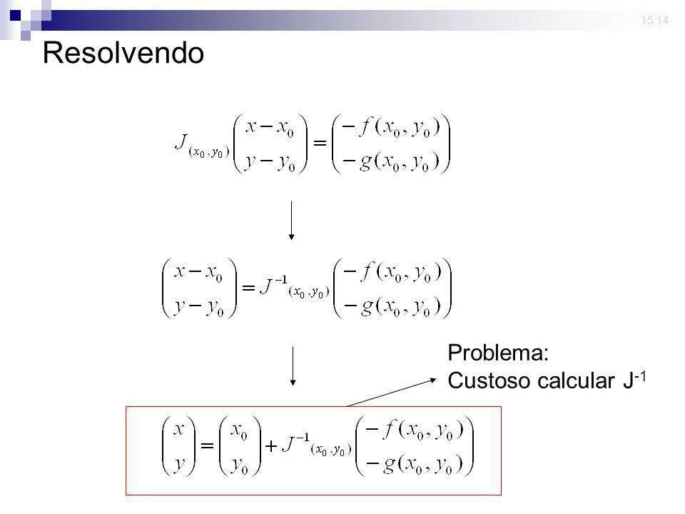 23 mar 2009. 15:14 Resolvendo Problema: Custoso calcular J -1