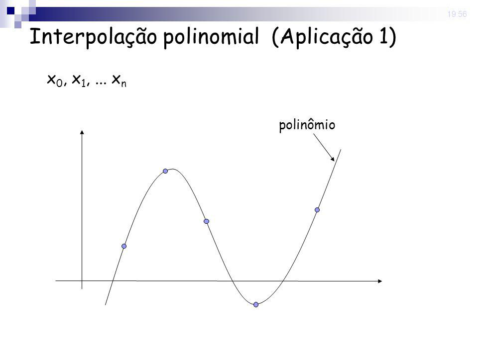 8 May 2008. 19:56 Interpolação polinomial (Aplicação 1) x 0, x 1,... x n polinômio