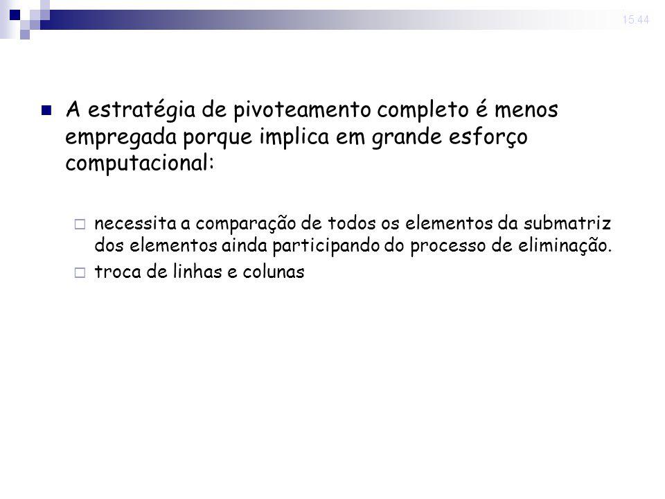 31 Oct 2008.15:44 Exemplo Resolver o sistema abaixo com regra de pivoteamento completo.