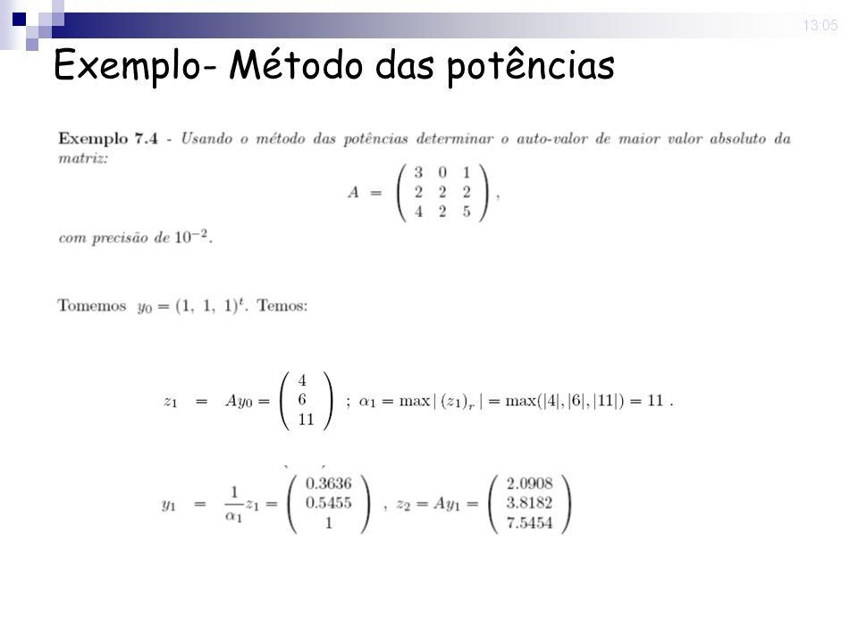 9 Jun 2008. 13:05 Exemplo- Método das potências