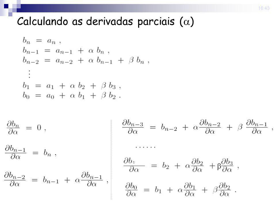 22 Sep 2008. 16:43 Calculando as derivadas parciais ( ) 1