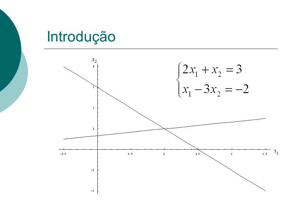 Decompor a matriz A em um produto de dois fatores: L : matriz triangular inferior U : matriz triangular superior Ax = b LU x = b A = LU