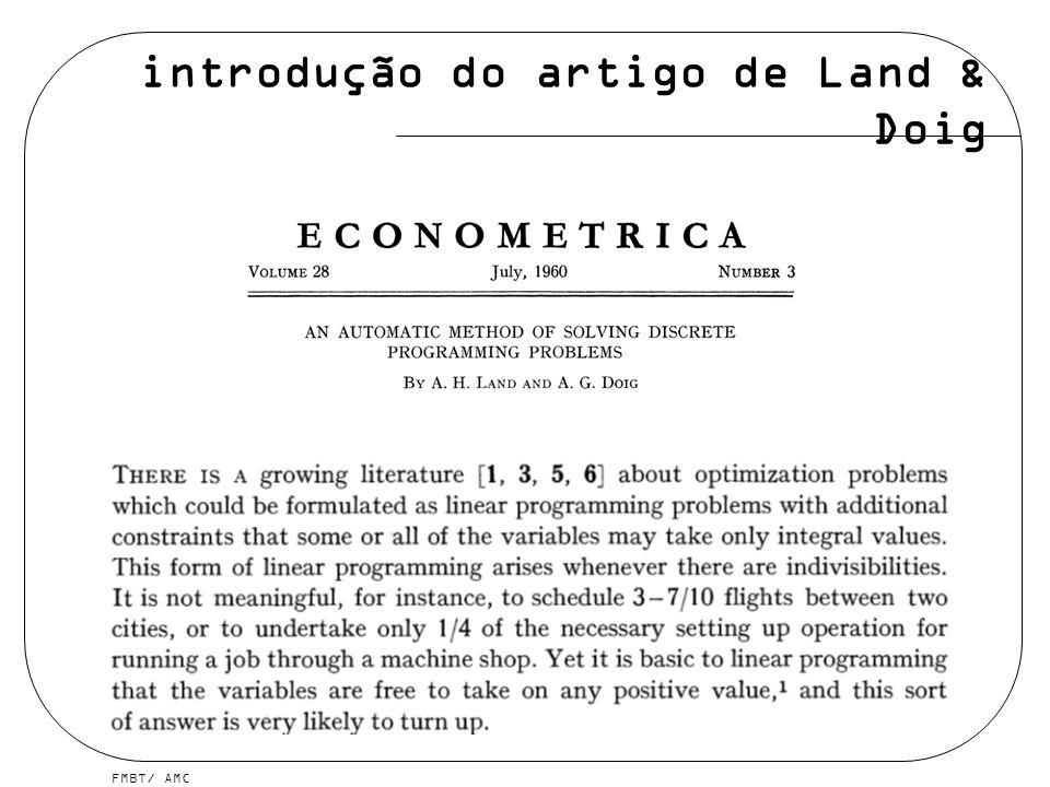 FMBT/ AMC introdução do artigo de Land & Doig