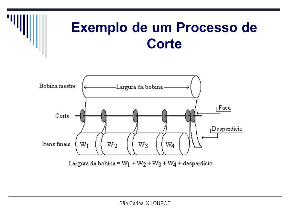 São Carlos, XII ONPCE Exemplo de um Processo de Corte