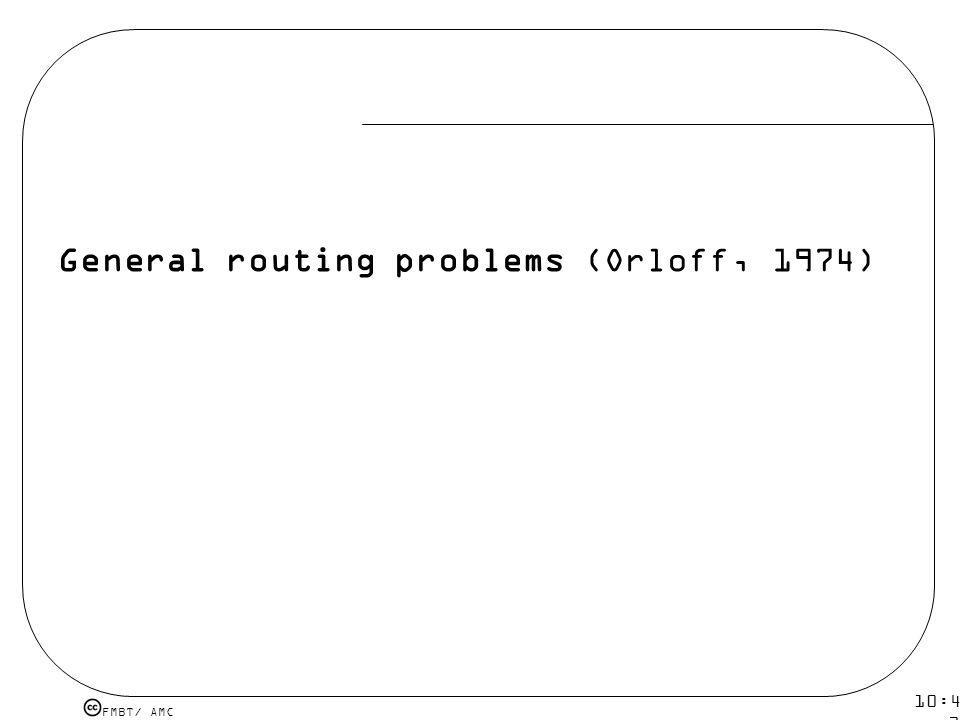 FMBT/ AMC 10:43 19 mar 2009. General routing problems (Orloff, 1974)
