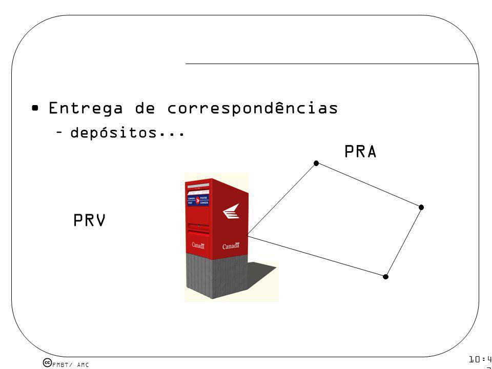 FMBT/ AMC 10:43 19 mar 2009. Entrega de correspondências –depósitos... PRV PRA