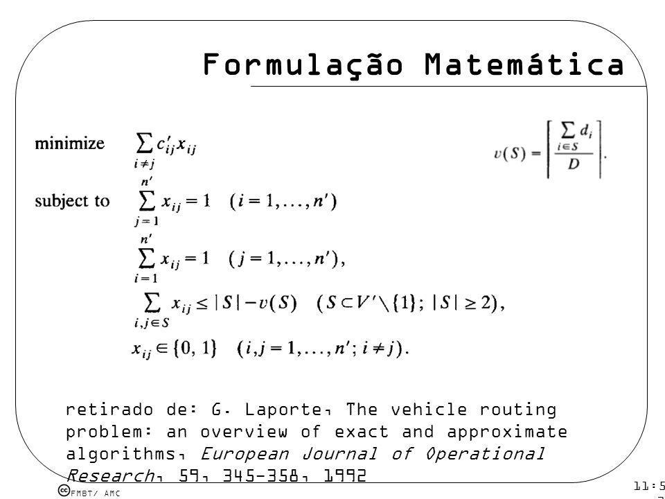 FMBT/ AMC 11:54 12 mar 2009.Formulação Matemática retirado de: G.