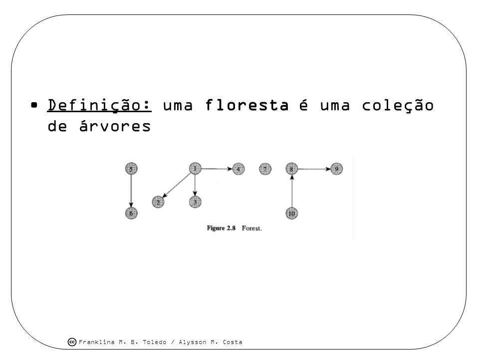 Franklina M. B. Toledo / Alysson M. Costa Definição: uma floresta é uma coleção de árvores