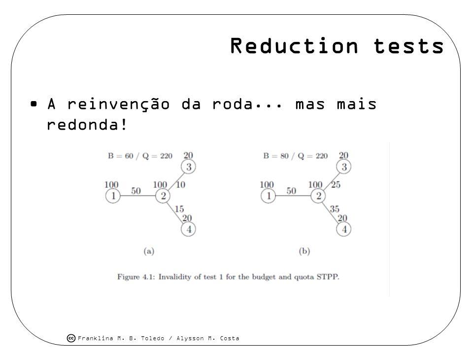 Reduction tests A reinvenção da roda... mas mais redonda!