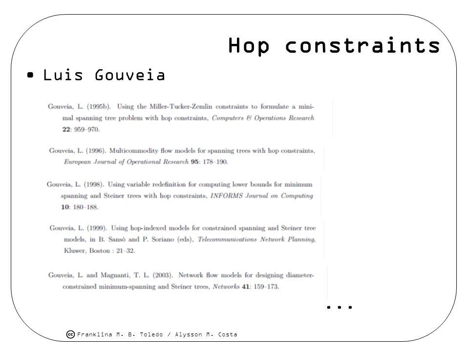 Hop constraints Luis Gouveia...