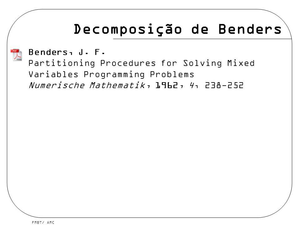 FMBT/ AMC Benders. Exemplo Master subproblem