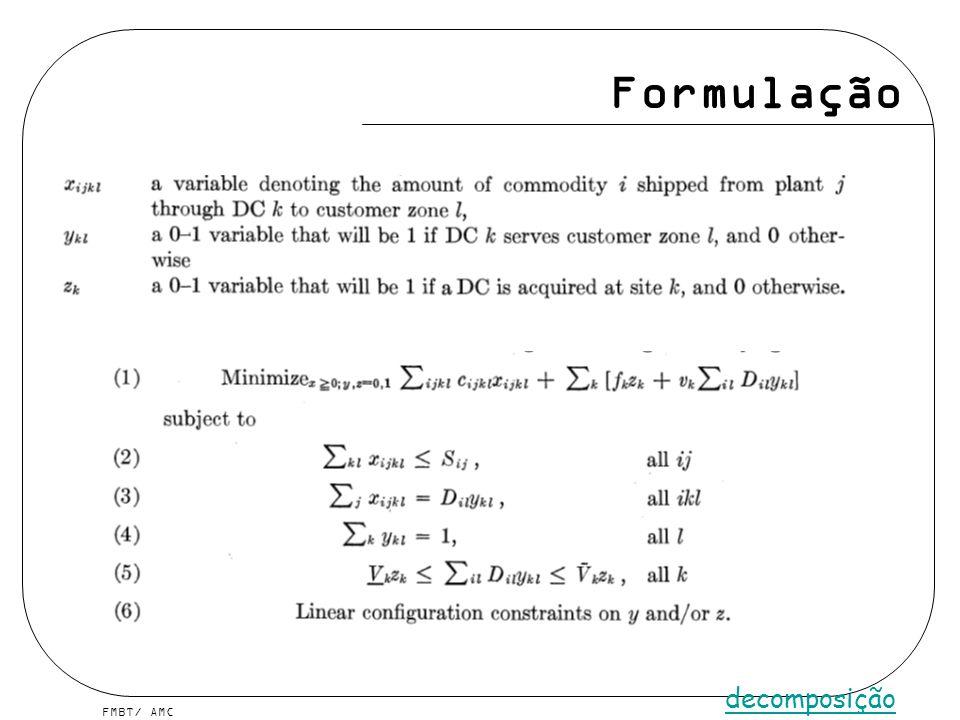 FMBT/ AMC Formulação decomposição