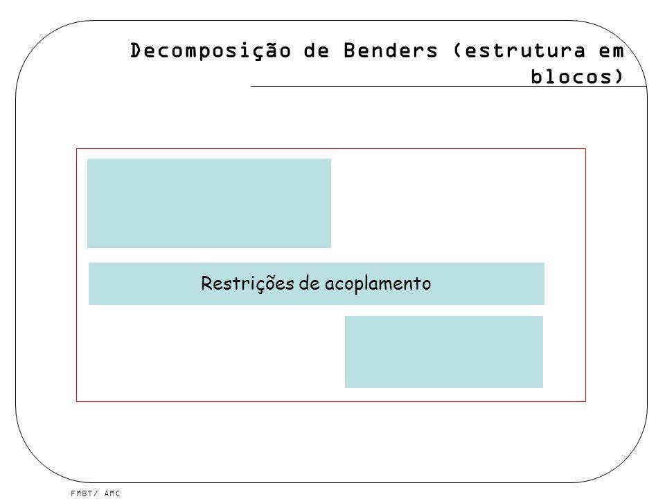FMBT/ AMC Restrições de acoplamento Decomposição de Benders (estrutura em blocos)