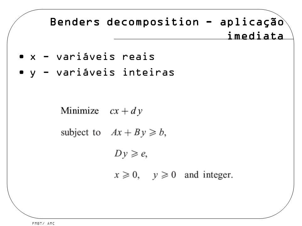 FMBT/ AMC Benders decomposition - desenvolvimento =