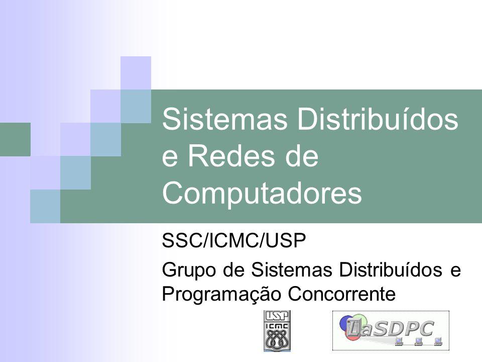 Sistemas Distribuídos e Redes de Computadores SSC/ICMC/USP Grupo de Sistemas Distribuídos e Programação Concorrente