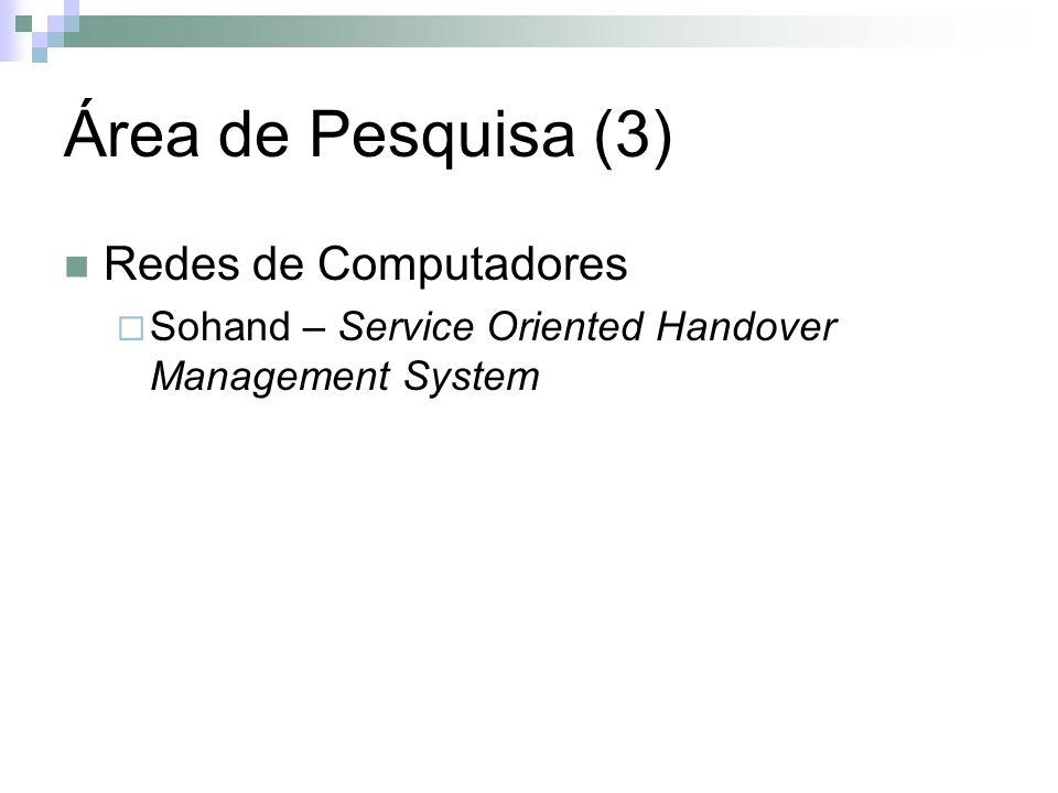 Área de Pesquisa (3) Redes de Computadores Sohand – Service Oriented Handover Management System