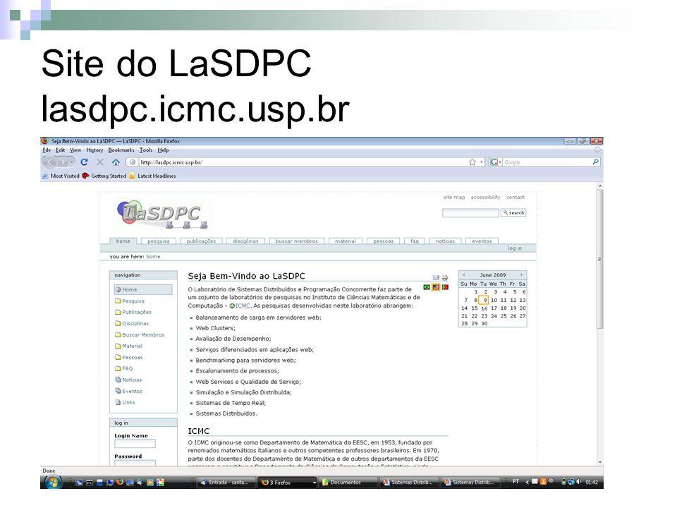 Site do LaSDPC lasdpc.icmc.usp.br