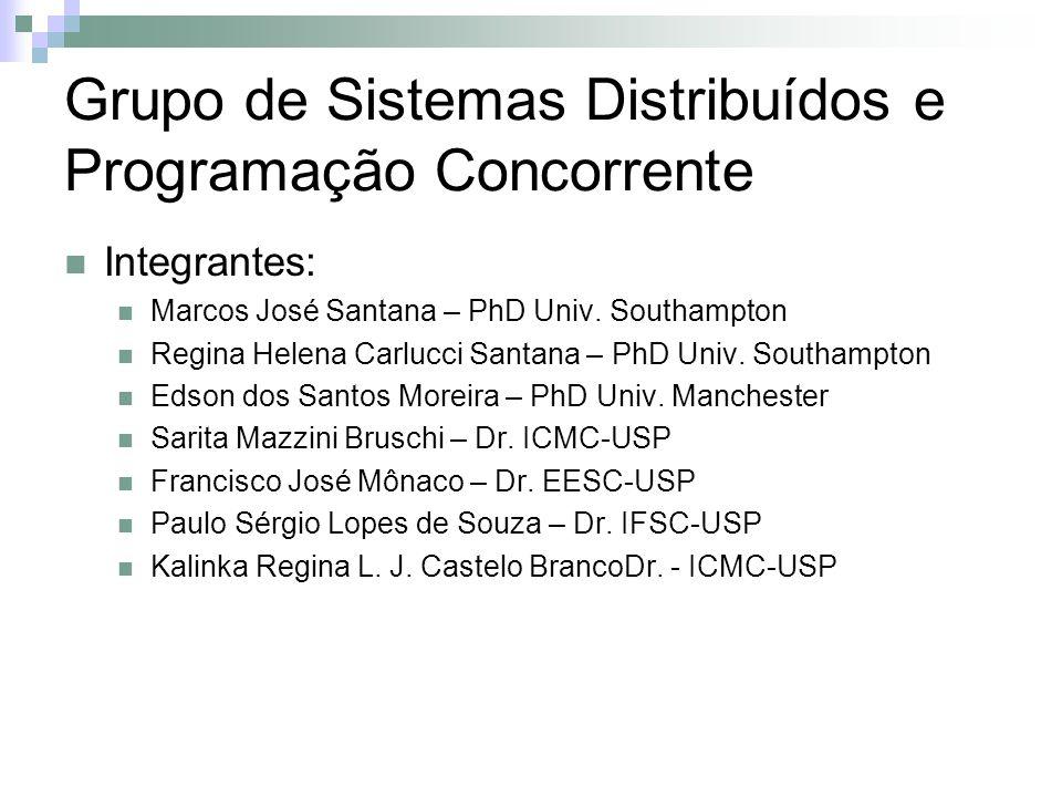 Grupo de Sistemas Distribuídos e Programação Concorrente Integrantes: Marcos José Santana – PhD Univ.