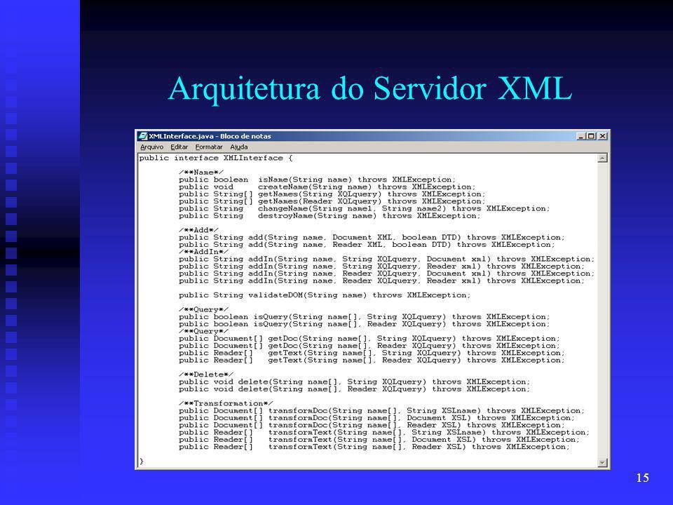15 Arquitetura do Servidor XML