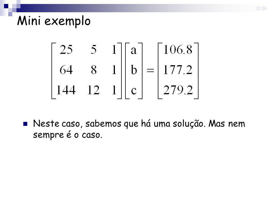15:54 Classificação de um sistema linear Possível e consistente: todo sistema que possui ao menos uma solução.