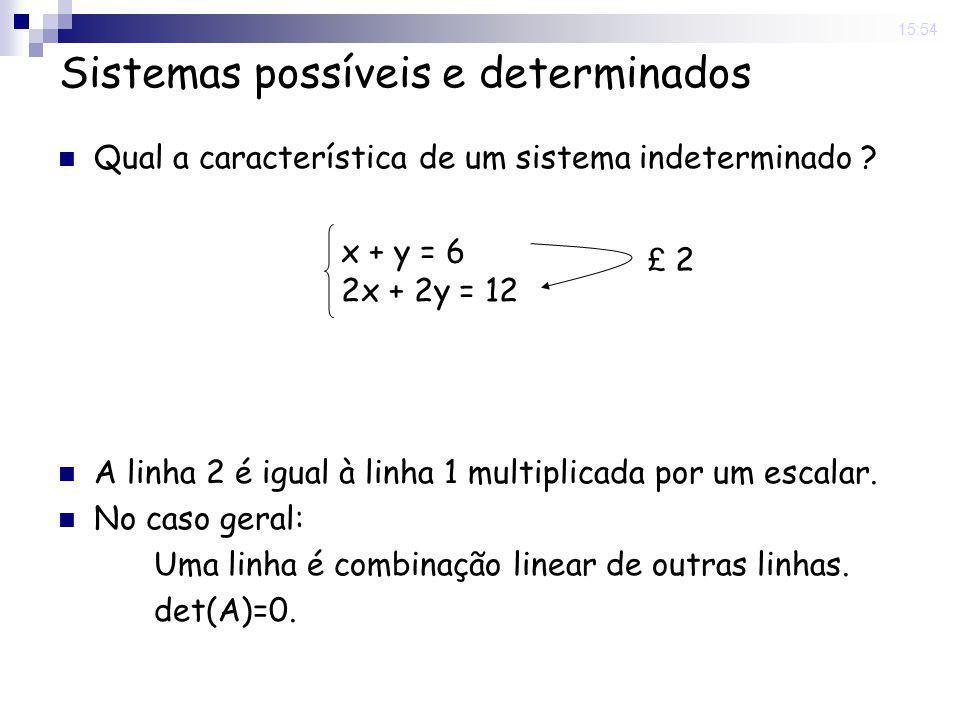 15:54 Sistemas inconsistentes Qual a característica de um sistema inconsistente .