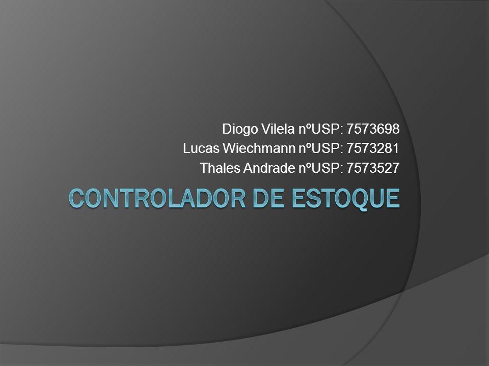 Diogo Vilela nºUSP: 7573698 Lucas Wiechmann nºUSP: 7573281 Thales Andrade nºUSP: 7573527