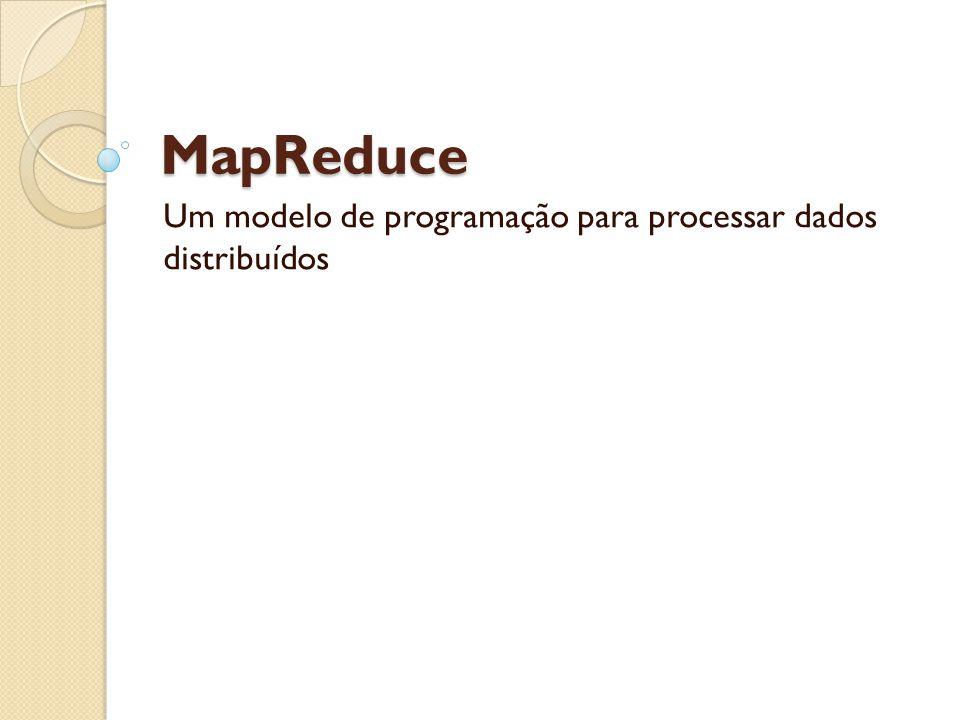 MapReduce Um modelo de programação para processar dados distribuídos