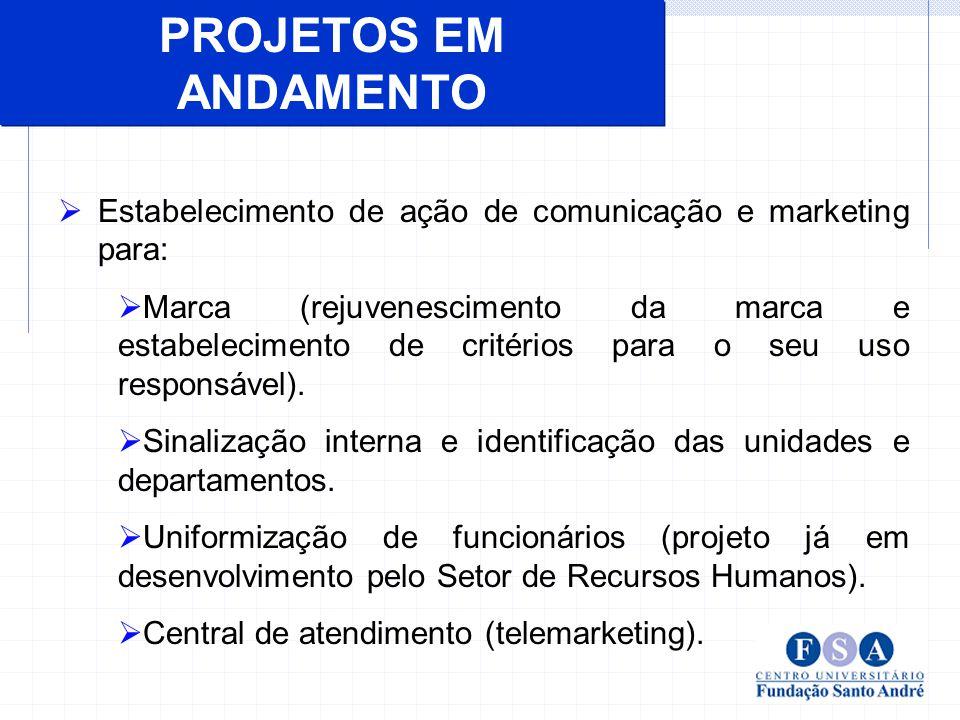 Estabelecimento de ação de comunicação e marketing para: Marca (rejuvenescimento da marca e estabelecimento de critérios para o seu uso responsável).