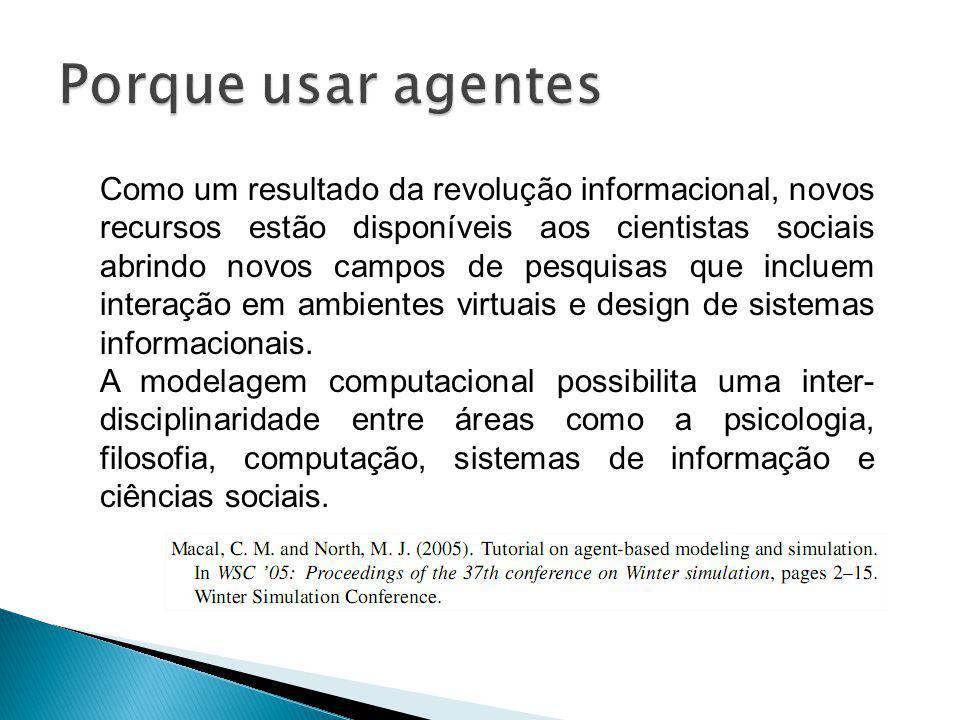 Como um resultado da revolução informacional, novos recursos estão disponíveis aos cientistas sociais abrindo novos campos de pesquisas que incluem in